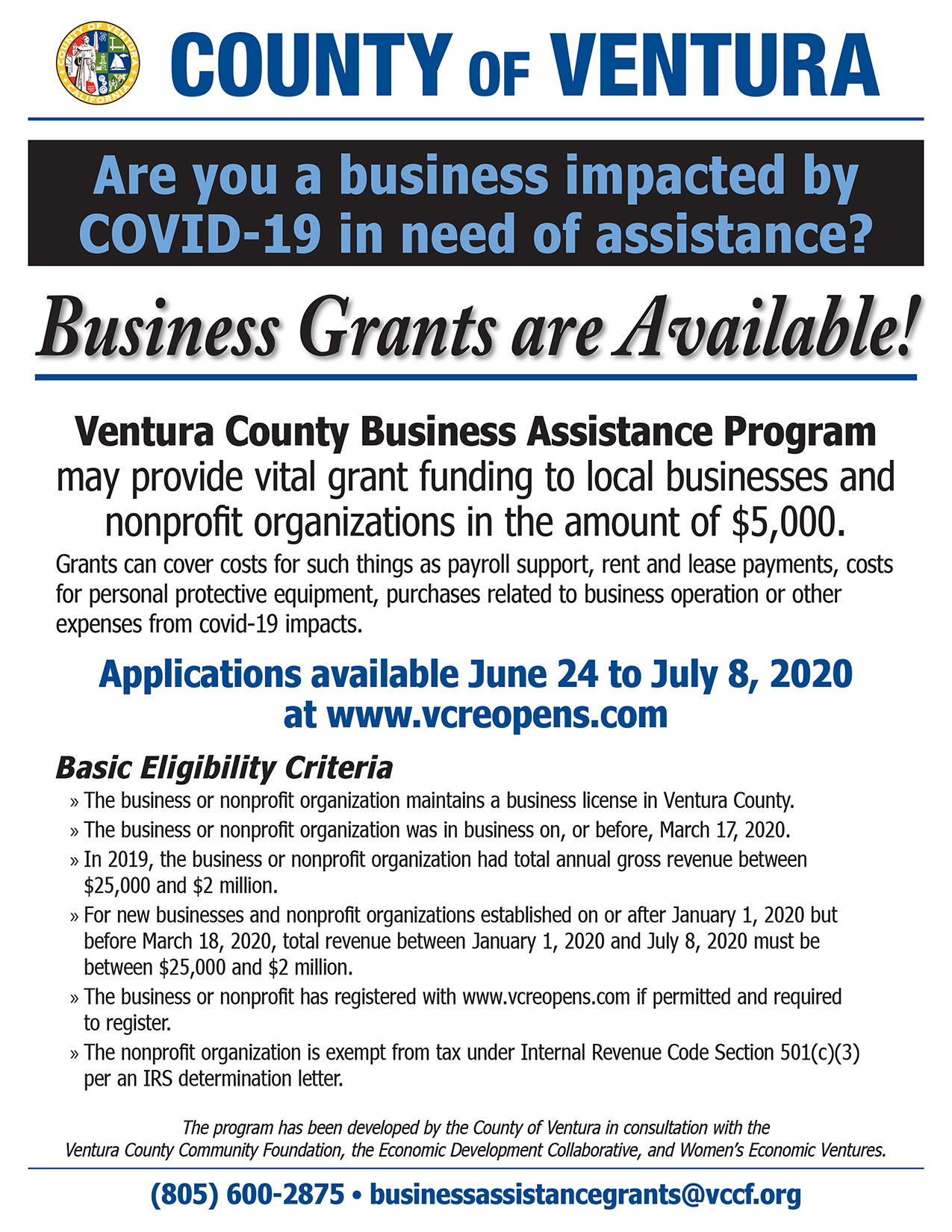 Business Grants are Available